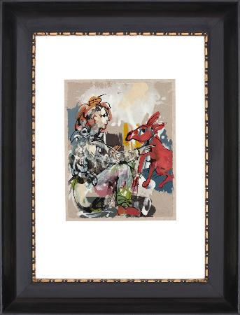 2014, Acryl und Schellack auf Papier, 27 x 22 cm, gerahmt 61 x 41 cm