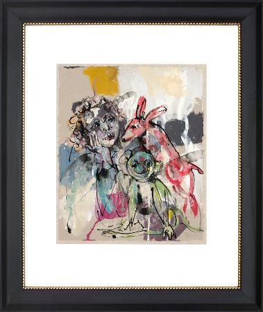 2014, Acryl und Schellack auf Papier, 34 x 28,5 cm, gerahmt 63 x 51 cm