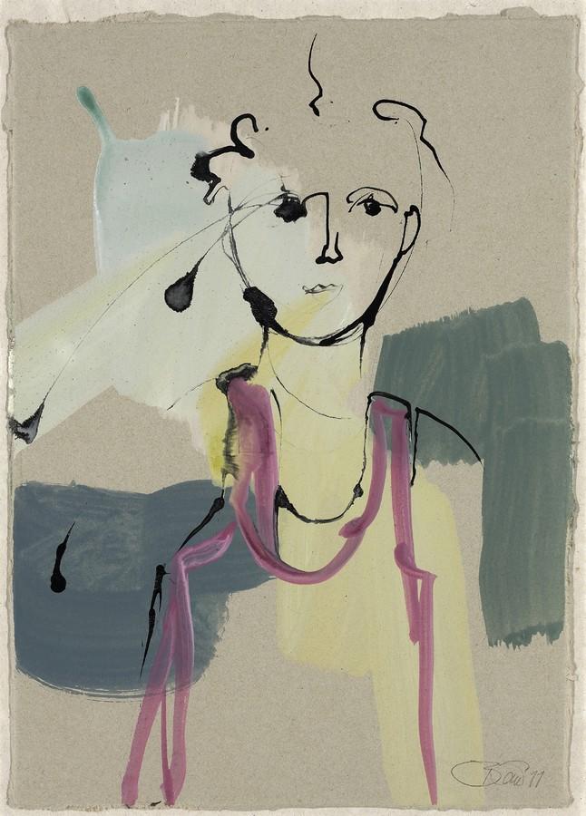 Freigeist   2012, Tusche und Acryl auf Karton, 30,5 x 22 cm