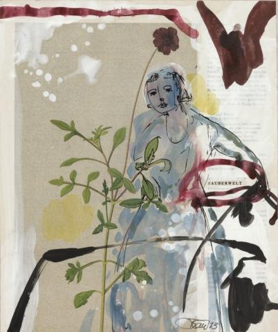 Die Andere Bibliothek   2013, Acryl und Schellack auf Papier, 22,5 x 19 cm