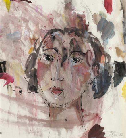 Der Wunsch | 2013, Acryl und Schellack auf Pergamin, 21,5 x 20,5 cm