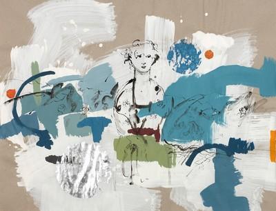 Jungbrunnen – dem leise redenden entgegenschweigend | 2010, Acryl und Tusche auf Papier, 69 x 89 cm