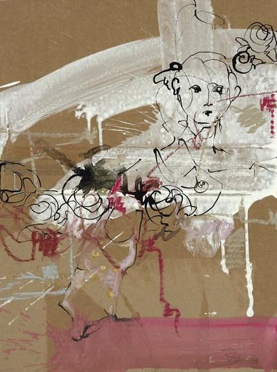 Nächtliche Reise | 2009, Tusche, Pastell und Gouache auf Karton, 45 x 33 cm