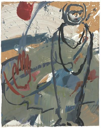 Nur das Gespinst versteht zu leuchten | 2008, Acryl auf Karton, 42 x 33,5 cm