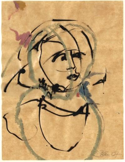 o. T. | 2007, Tusche und Ölpastell auf Ölpapier, 16,8 x 12,7 cm