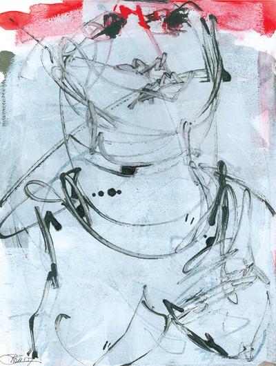 o. T. | 2007, Acryl und Tusche auf Malpappe, 50 x 40 cm