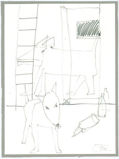 Die Sache mit dem Fuchs | 2006, Bleistift auf Papier 18 x 13,7 cm