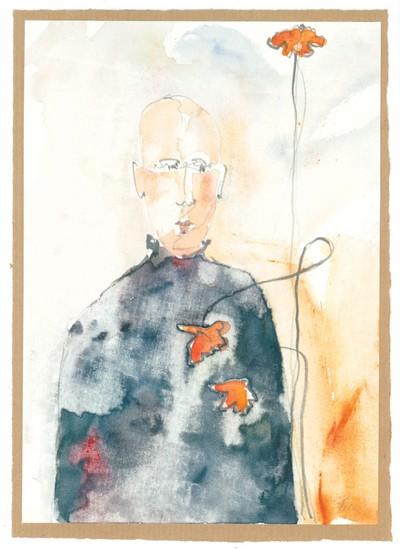 o. T.  | 2006, Aquarell und Bleistift auf Papier, 35 x 20 cm