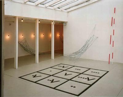 Spielräume – Interaktion der Künste | Detail Installationsansicht