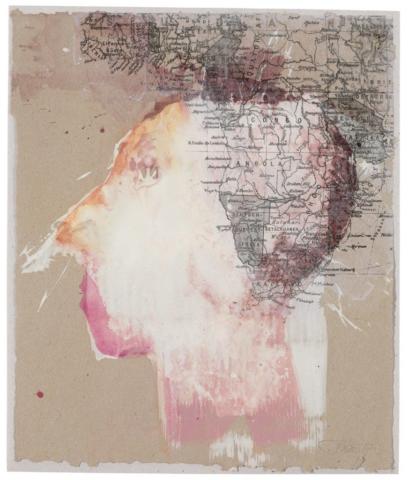 Das Ende der Arroganz | 2017, Acryl und Transferdruck auf Papier, 32 x 28 cm