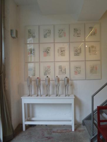Installationsansicht Atelier
