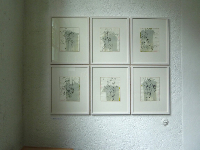 "Zyklus ""Mondviole – Silberblatt"" | Atelieransicht"