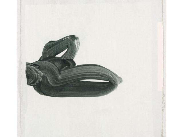Große Form I | 2018, zweischichtige Papierarbeit, Acryl auf Pergamin und Collage über Gesso auf Pappe, 29 x 23 cm