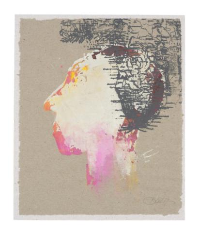 Das Ende der Arroganz | 2017, Siebdruck, 23,5 x 20 cm